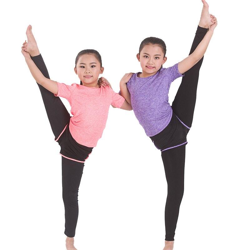 Acheter Mignon Femmes De Yoga Gym Costume Ensemble Femme Filles T shirt + Pantalon (Shorts) leggings serrés Costume Sport Fitness Sport Ensembles De Jogging de Yoga Ensembles fiable fournisseurs