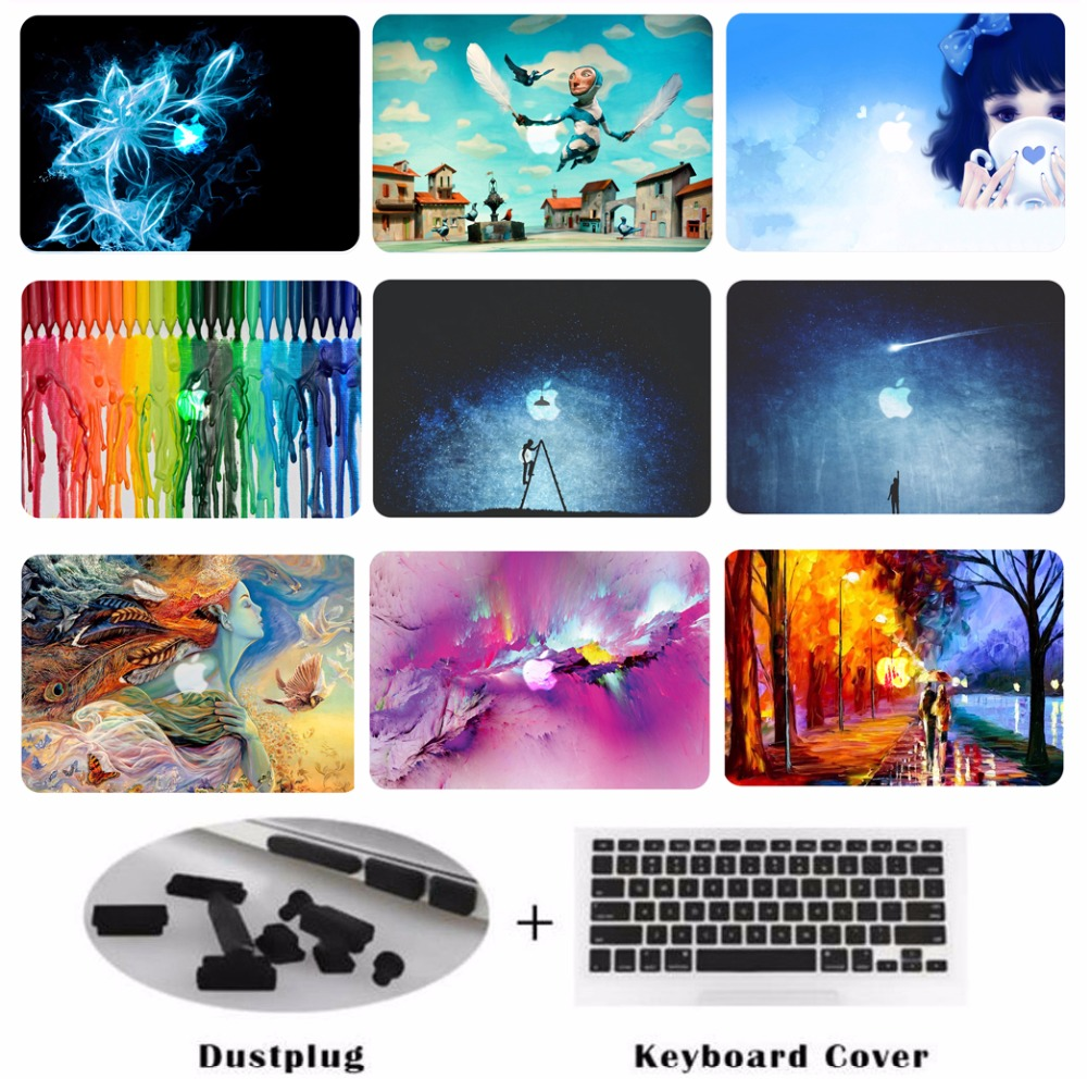 New Laptop Case Tablet Hard Shell Keyboard Cover Skin Dust Plugs Set For 11 12 13