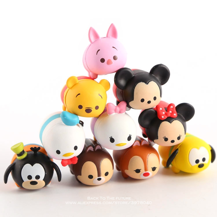 Disney Mickey Mouse Minnie 10pcs/set 3cm Action Figure Posture Anime Decoration Collection Figurine Toy model for children gift