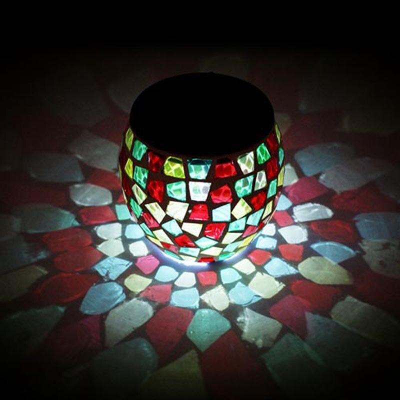 LED Glass Tank Solar Panel Table Desk Night Light Wedding Party Garland Energy Saving Garden Interior Lamp Lighting Decoration