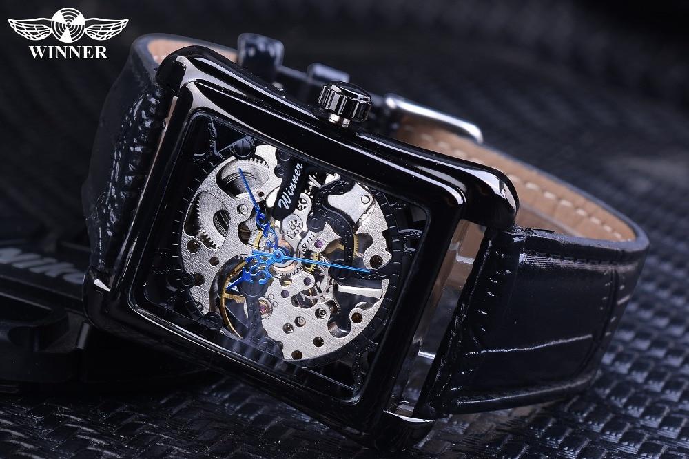 HTB1vi0GgBmWBuNkSndVq6AsApXaG Winner 2017 Retro Casual Series Rectangle Dial Design Golden Pattern Hollow Skeleton Watch Men Watch Top Brand Luxury Mechanical