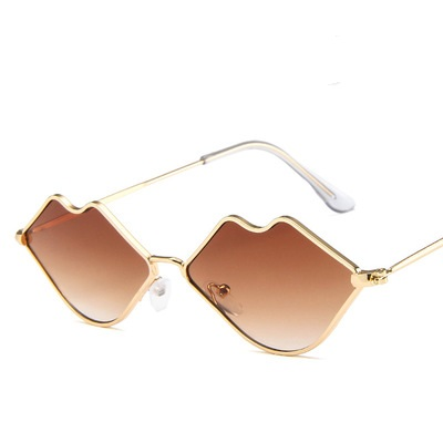 COOLSIR Small Lips Shape Sunglasses Women Brand Designer 2019 New Sexy Mouth Brand Designer Sun Glasses Red Herat Shades UV400 in Women 39 s Sunglasses from Apparel Accessories
