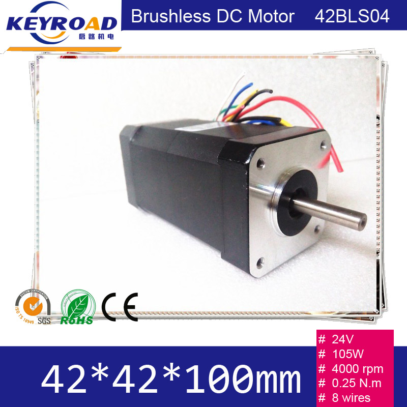Low Noise and Temperature 24V 105W 4000rpm 42mm Square brushless DC Motor 42BLDC Hall Motor