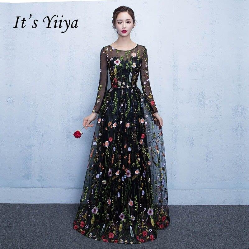 743f67381a686 Hot Sale] Lace Evening Dresses Long Ever Pretty O Neck A Line Half ...