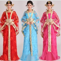 Hanfu Chinese Ancient Dress Princess Fairy Tang Dynasty Wu Mei Niang Cosplay Chinese Dance Costumes Chinese