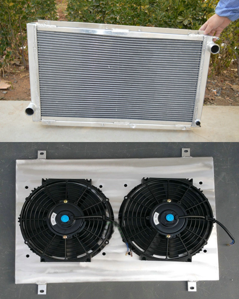 2ROW ALUMINUM RADIATOR FOR 1992-2000 HONDA CIVIC SHROUD /& FAN