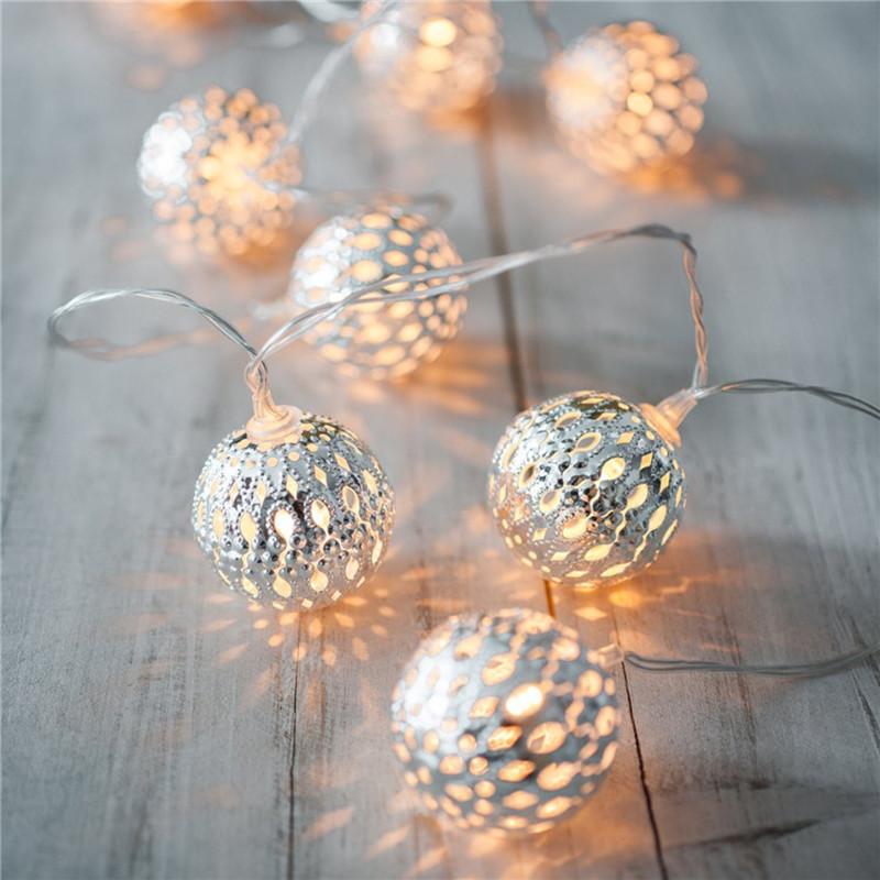 4m Christmas String Light New Year Garland Led Window Ball LED String Lights Curtains Home Decorations Holiday Fairy Lights Lamp 40 led grinding white ball christmastree string lights decorated colored lamp