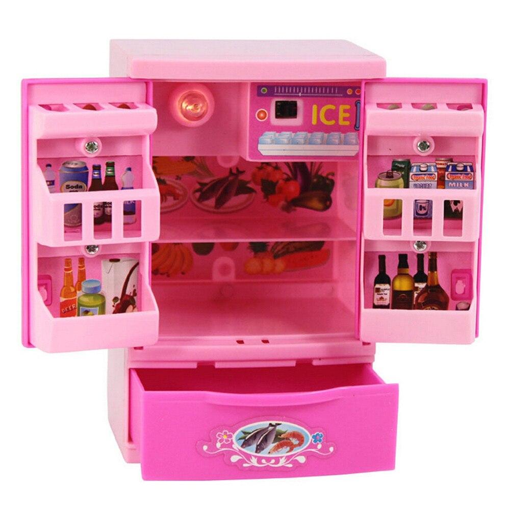 Hiinst kids kitchen toys 2017 Baby Kid Developmental Educational Pretend Play Home Appliances Kitchen Toy Refrigerator Gift*R