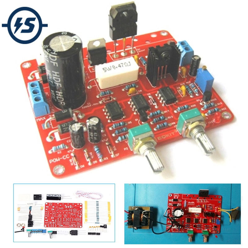 Power Supply DIY Kit AC-DC Adjustable DC Regulated Power Supply CVCC AC 15-24V To DC 0-30V 2mA-3A Regulated Power Supply Kit