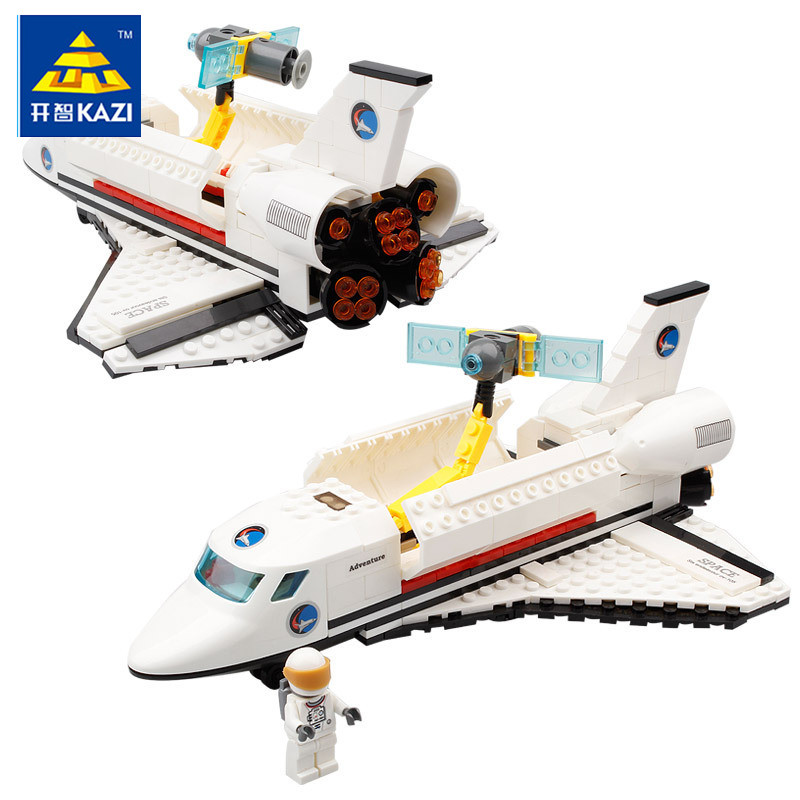 KAZI Space series 83003 Endeavour Space Shuttle 285pcs Building Blocks Boys DIY Educational Bricks Toys For Children Gift loz architecture space shuttle mini diamond nano building blocks toys loz space shuttle diy bricks action figure children toys
