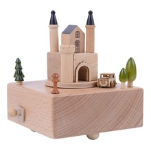 Vintage Rotary Classical Music Box Happy Castle Decoration Music Box Home Decoration Accessories Creative Gift