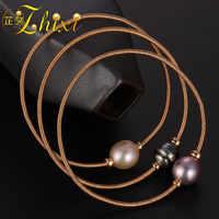 ZHIXI perle bijoux Baroque perle Bracelets 9 K or bijoux en pierre naturelle charme Bracelets pour femme cadeau de fête S305