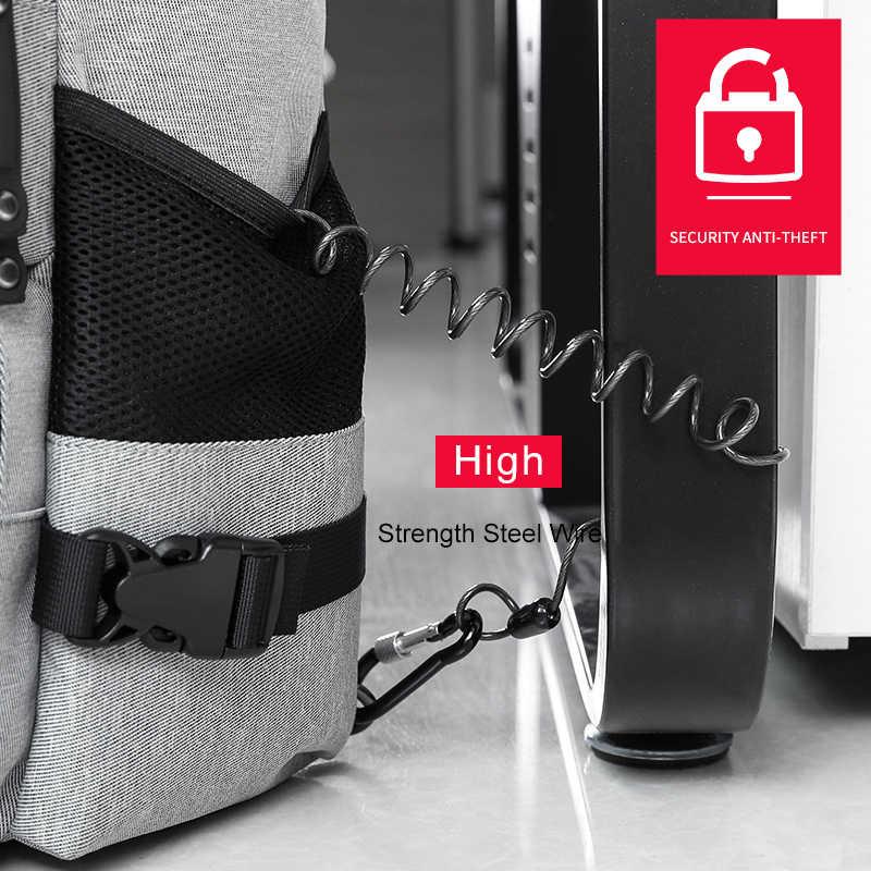 KAKA High Capacity 15.6 inch Laptop Anti theft Backpack Men Business Luggage Shoulder Bags Waterproof Travel Backpacks Schoolbag
