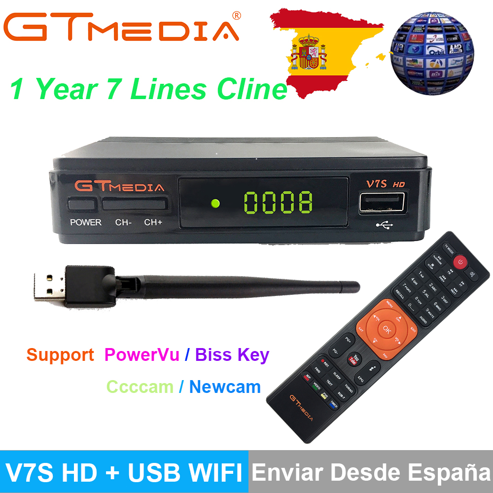 1 Jahr Europa Clines Server Dvb-s2 Freesat V7s Hd Satellite Decoder + Usb Wifi 1080 P Parabolischen Decoder Upgrade Von Freesat V7 Kunden Zuerst