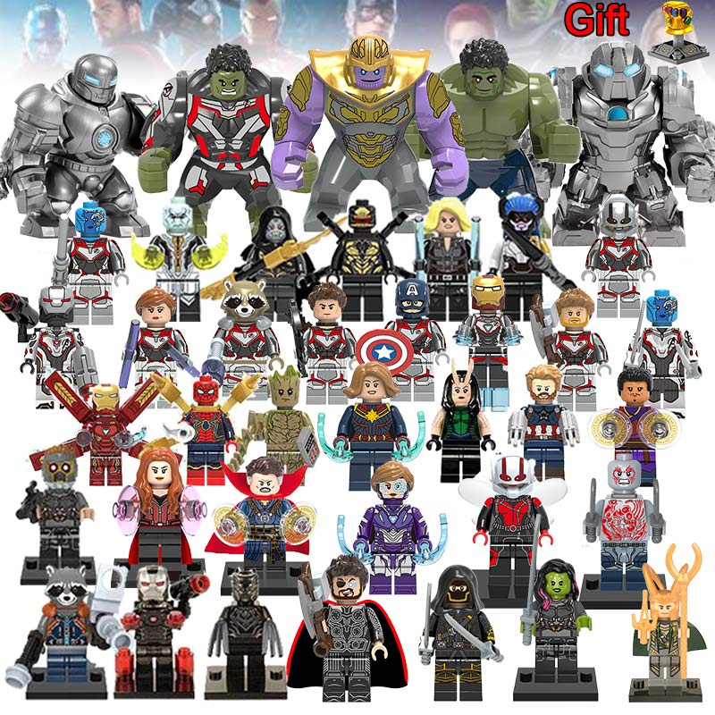 40Pcs/lot Super Heroes Building Blocks LEGOED Marvel Avengers 4 Infinity War Machine Figures Iron Man Thanos Endgame Toys