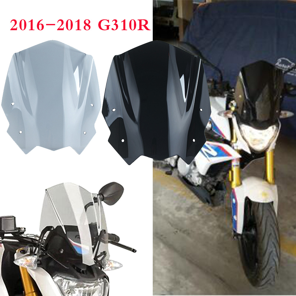 for BMW G310R <font><b>G</b></font> <font><b>310</b></font> <font><b>R</b></font> 2016 2017 2018 Motorcycle Windshield Windscreen Shield Screen with Mounting bracket High Quality ABS image