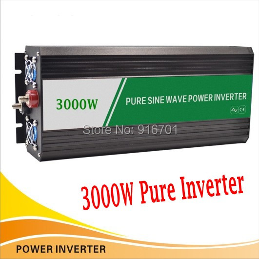 6000 w crête 3000 w Inverseur de onda sinusoïdale 12 volts 24 volts 48 volts domicile onduleur 3000 w pur onduleur à onde sinusoïdale