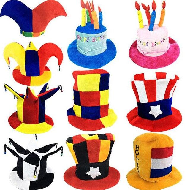 Hình Chú Hề ngộ nghĩnh Nón Hóa Trang Bóng Đá Bia Mũ Carnival Đảng Mũ Trẻ Em Người Lớn Diễn Sân Khấu Khi Mặc