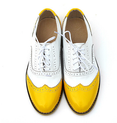 Colored Wingtip Shoes Mens