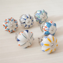 Colorful Ceramic Dresser Pulls Knob Drawer Kitchen Cabinet Cupboard Knobs Handles Door Handle Furniture Hardware