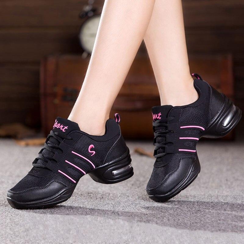 7dd0e7c48d886 Más tamaño zapatos de baile Jazz Hip Hop zapatos zapatillas para las señoras  del baile de la plataforma de la mujer modernos zapatos de baile de Jazz