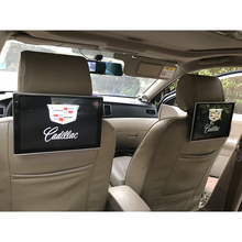 Car dvd player headrest android tv monitor for cadillac rear entertainment system 2pcs 11.8 inch car headrest screen car headrest video player android tv in the car dvd monitor for cadillac android rear seat entertainment system 11 8 inch screen