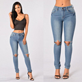 Women jeans Fashion new style Regular Straigth Sexy girl Hole jeans boyfriend jeans for women jeans femme