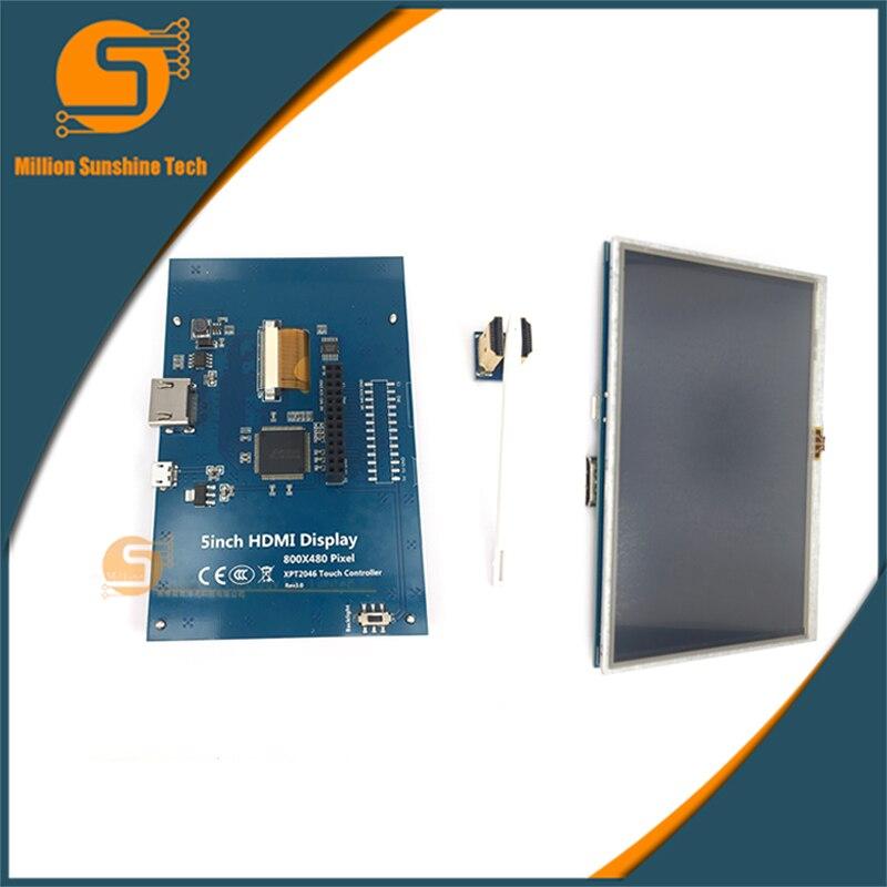 5 pouces Raspberry pi 2/3 écran tactile LCD 5 pouces HDMI LCD 800*480
