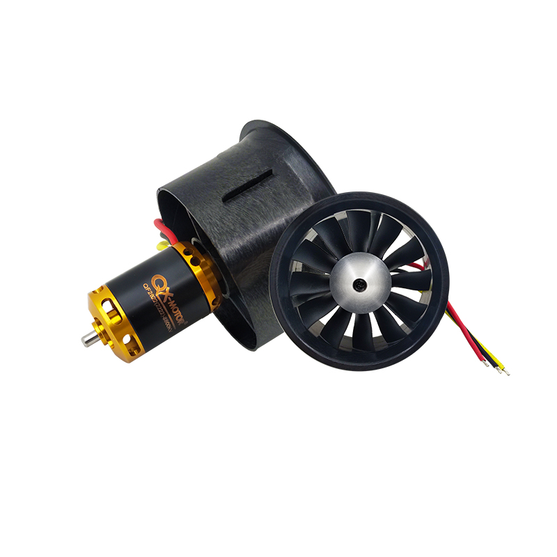 QX-MOTOR DIY Drone 64mm EDF Set 2822 3800KV Brushless Motor with 12 Blades Ducted Fan With 80A esc for RC Airplane Model Parts