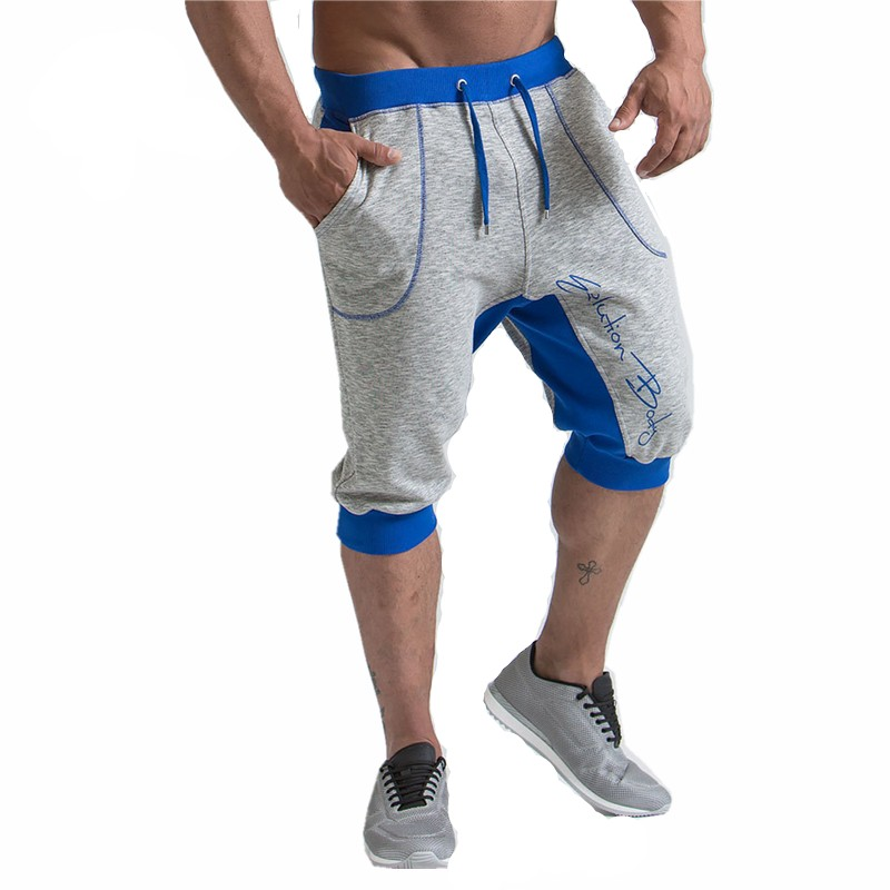 New Fashion Mens Baggy Jogger Casual Slim Harem Short Slacks Casual Soft Cotton GYMS Fitness Trousers Workout Shorts