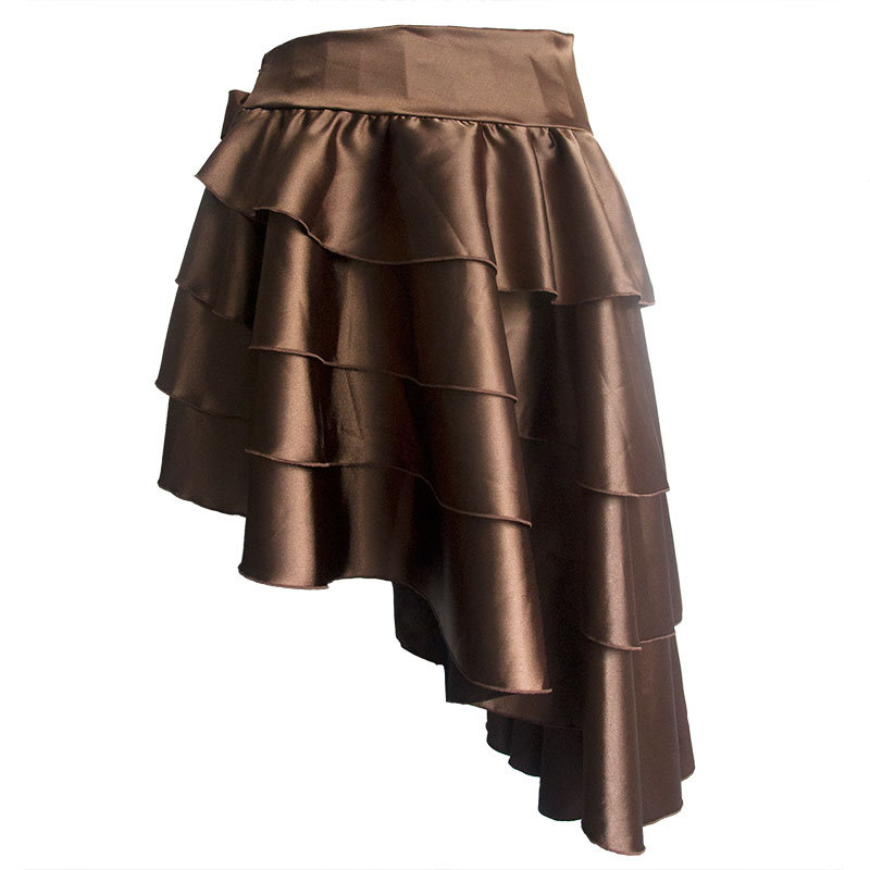 Womens Steampunk Costume Clothing Ruffle Burlesque Skirt Retro Vintage High Waist Long Maxi Skirts 2018 Summer Punk Gothic Skirt