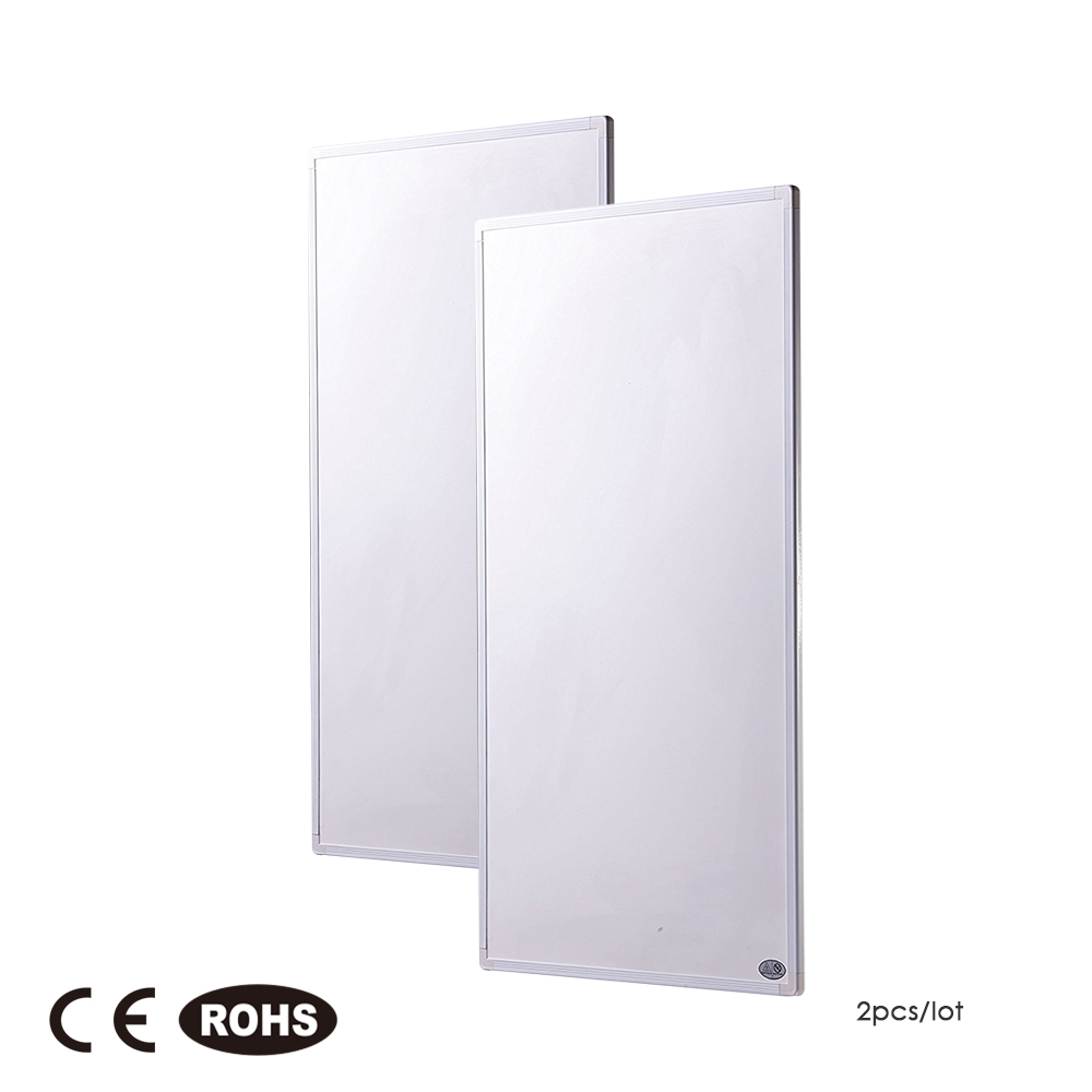 2pcs 600W Infrared Heater Carbon Crystal Heating Panel Radiator Ultra-flat Wall Heating 4pcs 600w 2015 new ir panel with ce rohs high quality good choice 600 1000mm infrared heater panel