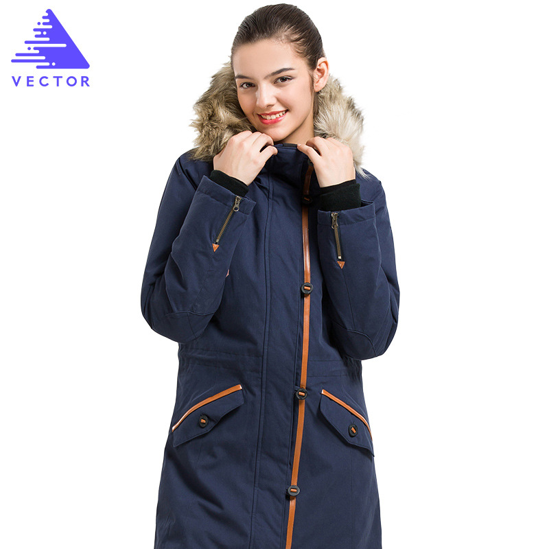 VECTOR Winter Outdoor Hooded Coats Jacket Female Long Sleeve Zip Long Jackets Ladies Winter Outerwear Windbreakers Hiking Jacket zip up long sleeve drawstring hooded jacket odm designer