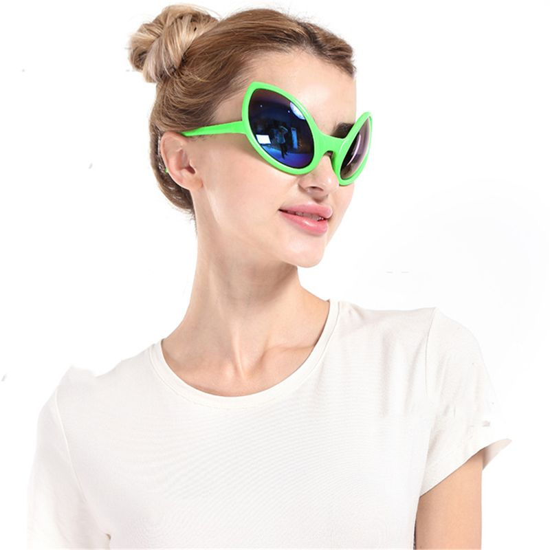 OOTDTY Funny Alien Costume Mask Novelty Beach Sunglasses Halloween Party Favors Photo Props Supplies Kids Adult Toy