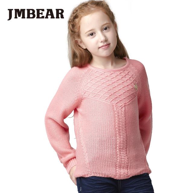 Jmbear 4-14 anos meninas cardigan roupas crianças outono casacos de lã menina camisola de malha camisola do natal