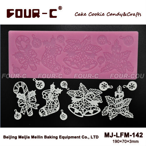 Cake Decorating Company Promo Code : Christmas Cake design silicone mat cake border lace mat ...