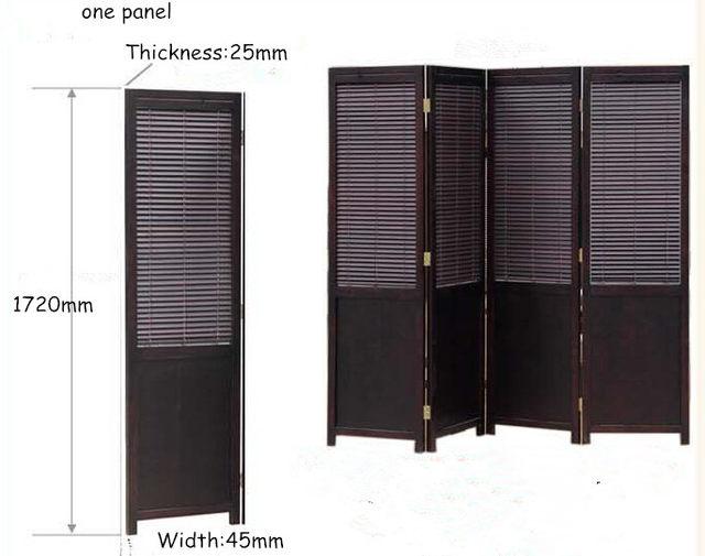 Online Shop 4 Panel Solid Wood Screens Room Dividers Freestanding 4