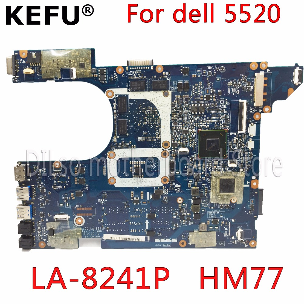 KEFU QCL00 LA-8241P motherboard CN-06D5DG 06D5DG 6D5DG for dell Inspiron 15R 5520 7520 laptop motherboard HD7670M dell 5520 nokotion main board for dell 15r 5520 motherboard system board cn 0n35x3 0n35x3 la 8241p ddr3