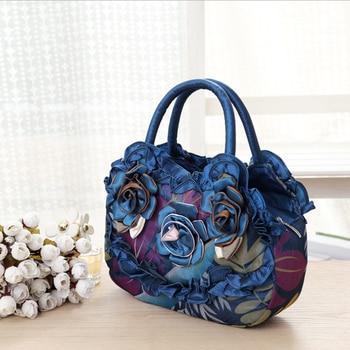 Cinta De Bordado De Seda | LIANGKA 3 Piezas Hecho A Mano Flor Rosa Volantes Encaje Bolso Mujer Bordado Bolso De Mano Bolso De Teléfono Bolso De Mano