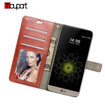 Thouport para LG G5 caso LG G5 SE H850 Flip PU bolsos de cuero de lujo billetera tarjeta Retro foto marco de la cubierta del teléfono de LG G5 Lite