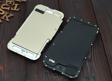 Armor Metal Stainelss 304 Flip ip6 Case For iPhone 6 6S Plus Shock Proof Cover Outdoor Shell Military Quality Standard Kickstand цена и фото