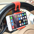 Simple durable Rubber GPS car phone holder 360 degree one-button Steering wheel bracket for iPhone/Xiaomi/Huawei 55 mm-75 mm