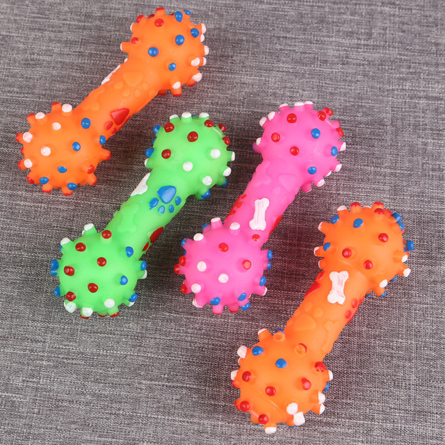 Colorful Dots Dog Bone  4