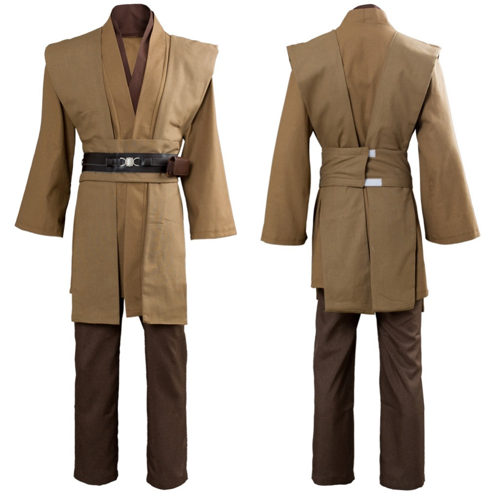 Star Wars Kenobi Jedi Cosplay Costume TUNIC Brown Jedi ...