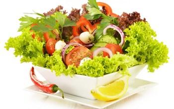 Living Room Decor Unframed Wall Art Decoration Poster Food Photo Art Vegetable Salad Green Salad Canvas