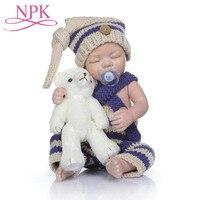 NPK Реалистичная розовая девочка 55 см силиконовые куклы Reborn Младенцы развивающие игрушки настоящий ребенок Реалистичная ребенок возрожденн