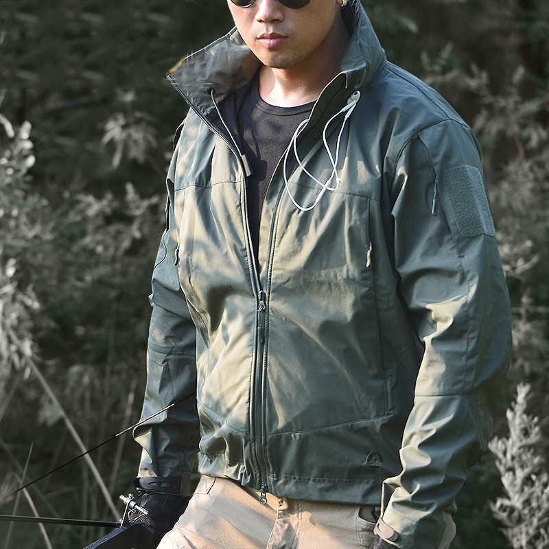ReFire Gear Otoño Invierno Softshell militar exterior chaqueta para hombres con capucha impermeable chaqueta de camping de senderismo chaqueta táctica del ejército