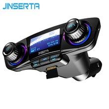 JINSERTA Power ON OFF Bluetooth 5,0 fm-передатчик модулятор Handsfree автомобильный комплект TF USB музыка AUX аудио MP3 плеер