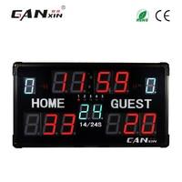 [GANXIN] 14 digits portable led scoreboard electronic digital basketall scoreboard with shot clock