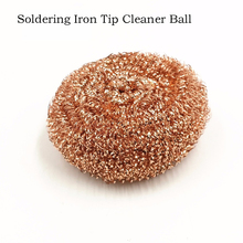 NOVFIX Soldering Handle cleaning Cleaning Steel Wire Sponge Ball Welding Soldering Accessories FOR  Solder Iron Tip newacalox anti static welding soldering solder iron tip cleaner cleaning steel wire with stand set repair tool